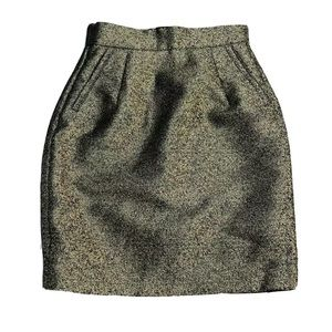 H&M Straight Pencil Above Knee Skirt Size 4 Gold